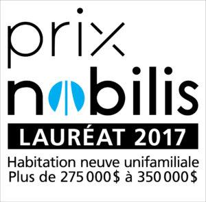 APCHQ - Prix Nobilis 2017 - Lauréat - Habitation neuve unifamiliale - 275 000 à 350 000 - Modèle 343