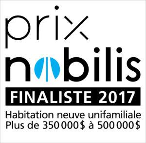 APCHQ - Prix Nobilis 2017 - Finaliste - Habitation neuve unifamiliale - 350 000 à 500 000 - Modèle 355