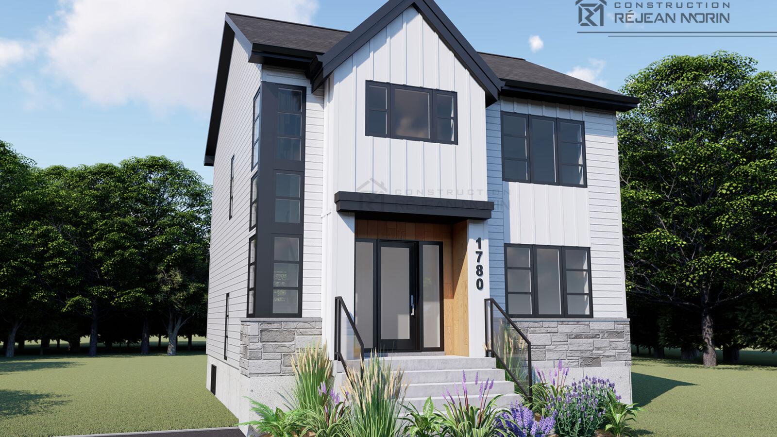 Architecture, design, construction résidentielle, entrepreneur générale, Lévis, Québec, construction maison neuve, plan de maison, maison